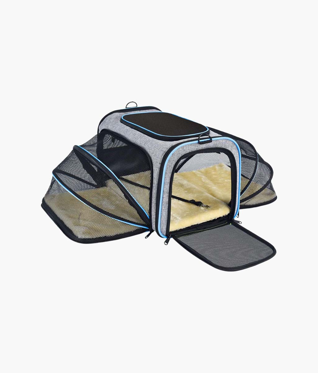 Expandable Soft-Sided Dog Carrier