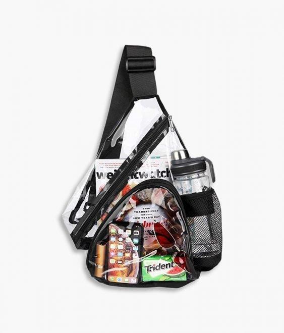 clear sling bag