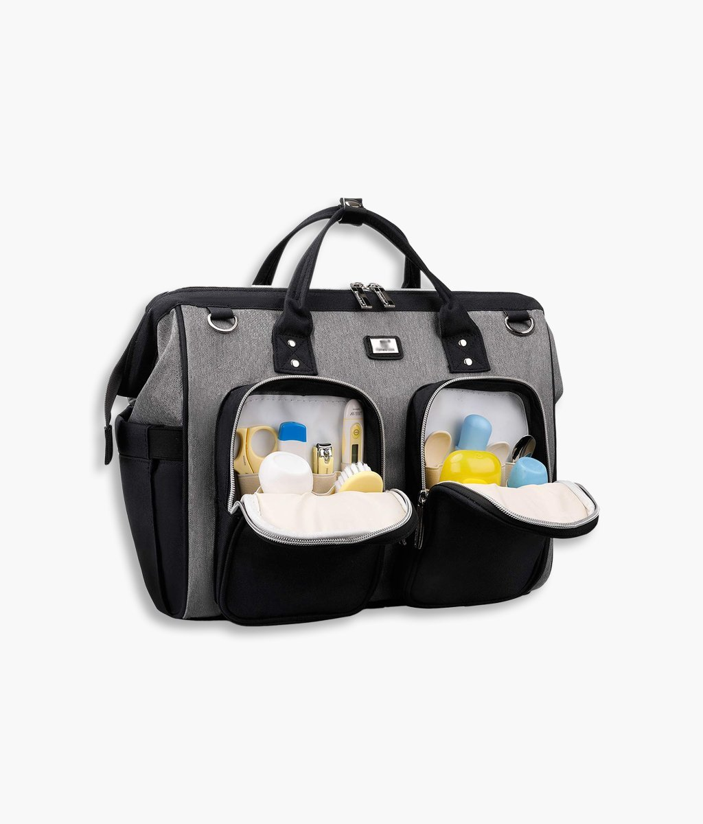 Diaper Bag Tote with Stroller Straps
